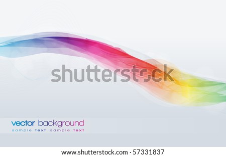 EPS10 Colorful Lines Abstract Vector Background
