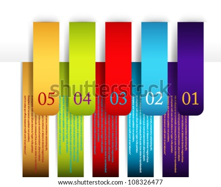 Eps Colorful Number Banner Design Template 01