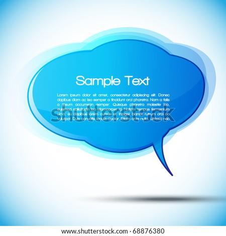 EPS10 Colorful Speech Bubble Vector Design - stock vector