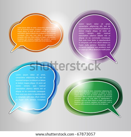 EPS10 Colorful Speech Bubbles - Labels Vector