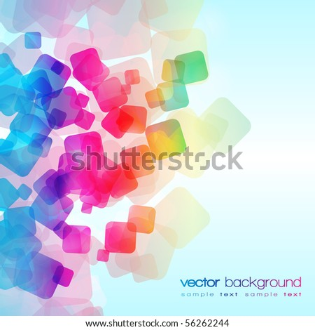 EPS10 colorful squares vector background - stock vector
