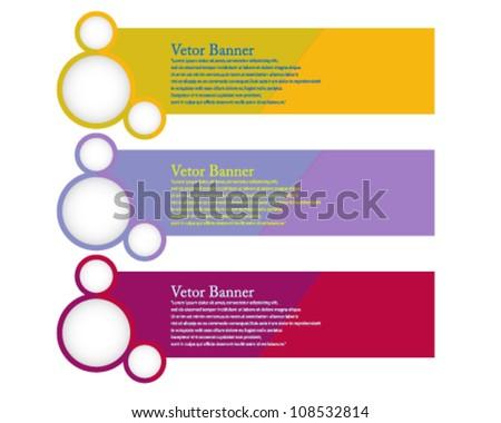Eps10 Colorful Vector Banner Concept Design - stock vector
