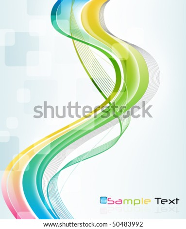 eps10 colorful wave background