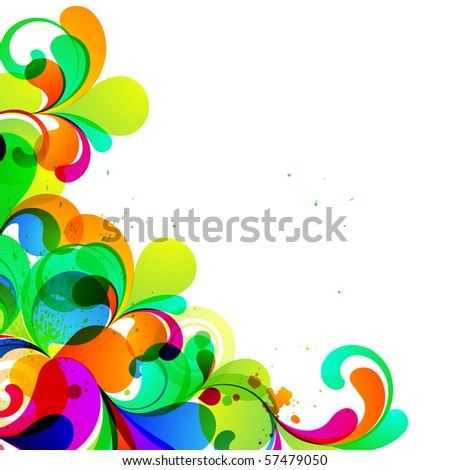 EPS10. Corner element for your design. - stock vector