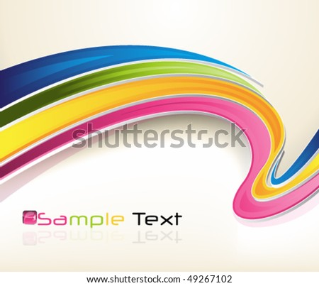 eps10 3d colorful background - stock vector