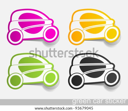 eps10, eco car, realistic design elements - stock vector