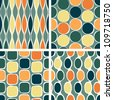 Eps10 file. Seamless retro geometric pattern - stock photo
