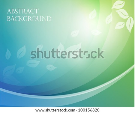 Eps10. Fresh design idea with shining element to attract attention to your message. Fully editable. Background with leaves. - stock vector