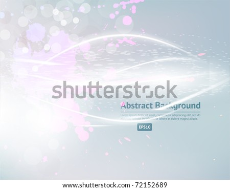 Eps10. Fresh design idea with shining element to attract attention to your message. Fully editable. - stock vector