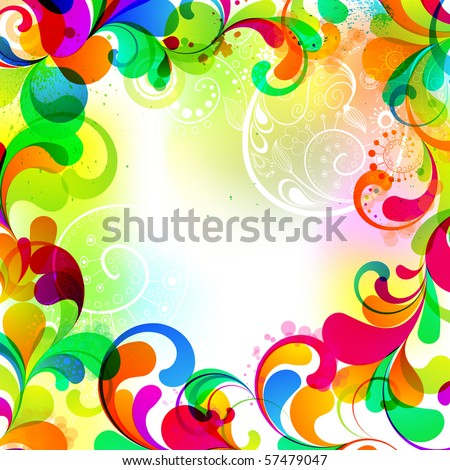 EPS10. Fully editable cheerful template for your design. - stock vector