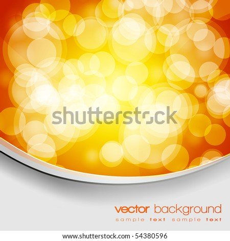 EPS10 Glittering gold and yellow lights background with text - vector - stock vector