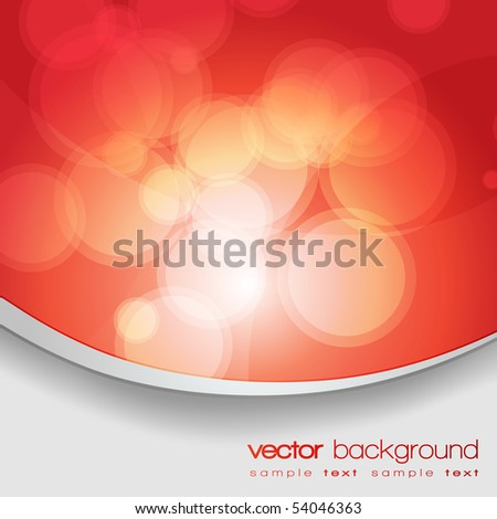 EPS10 Glittering red lights background with text - vector - stock vector