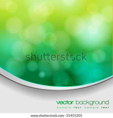 EPS 10 Green bokeh abstract light background with frame and shadow - Vector illustration - stock vector