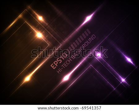 EPS10 hi-tech background for your design - stock vector