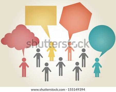 Eps10 illustration : Communication concept - stock vector