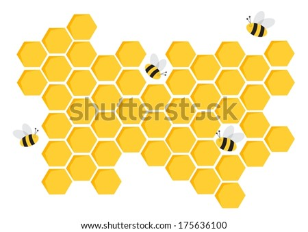 Eps10 illustration : Honeycomb pattern background