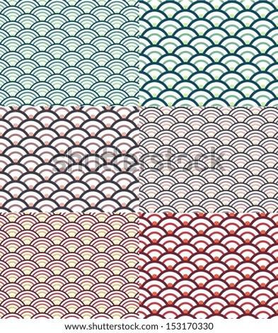 Eps10 illustration : Seamless wave pattern - stock vector