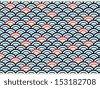 Eps10 Illustration : Seamless Wave Pattern Background - stock