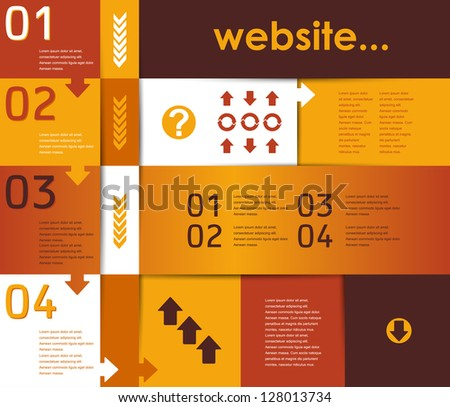 eps10, layout for the website and infographics - stock vector