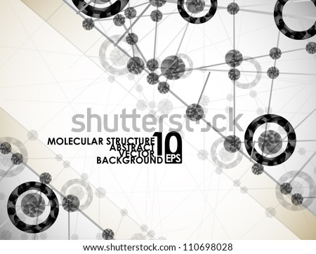 eps10, molecular structure, abstract background - stock vector
