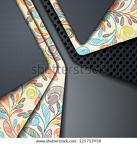 eps10, multi layered abstract background - stock vector