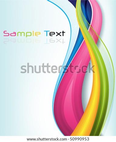 eps10 multicolor wavy background - stock vector