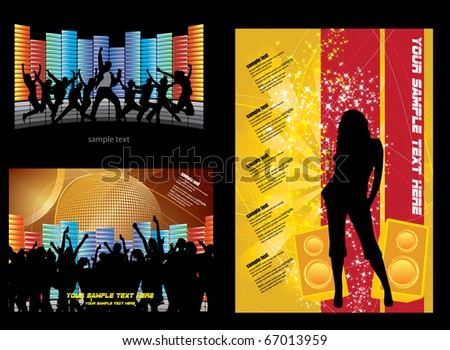 EPS10 music composition set - vector illustration - stock vector