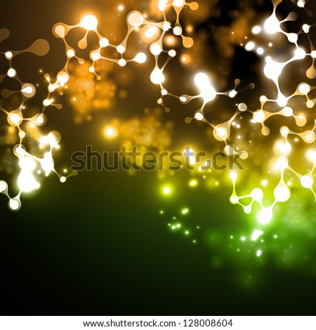eps, neon structure of the DNA molecule - stock vector