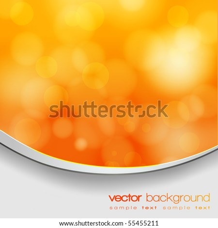 EPS 10 Orange and yellow bokeh abstract light background with frame and shadow - Vector illustration - stock vector