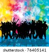 EPS10 party people vector background - stock vector