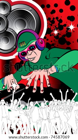 EPS10 Party people. Vector background