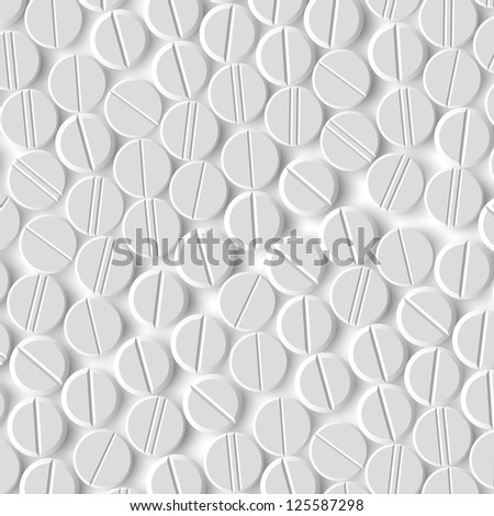 eps, realistic background of pills - stock vector