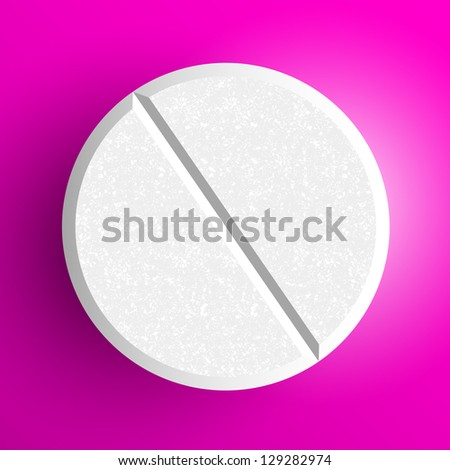 eps, Realistic pill - stock vector