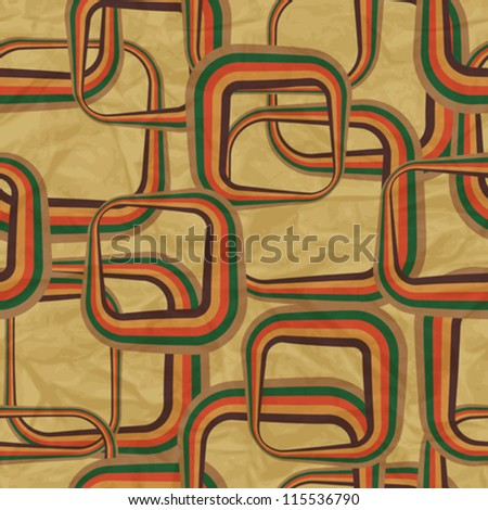 EPS10 retro seamless pattern on vintage old paper. - stock vector