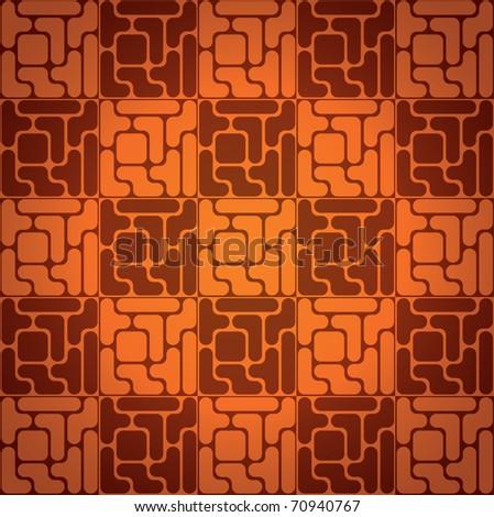 EPS10 Seamless pattern like tetris game - illustration - stock vector