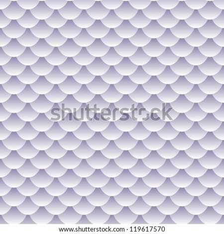 EPS 10: Seamless pattern of grey, lavender to white tones fish scales forming a textured repeat pattern, perfect wallpaper and other background or backdrop. - stock vector