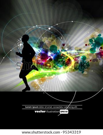 Eps10 sport vector illustration - stock vector