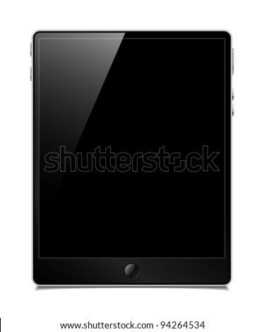 eps10, tablet pc, vector model - stock vector