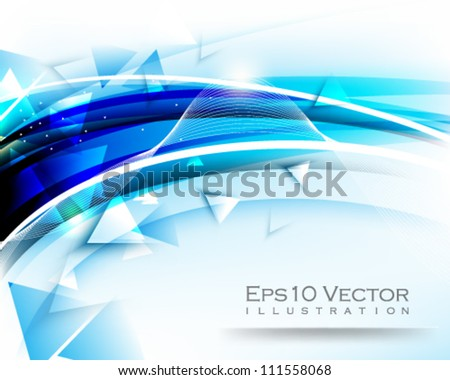 eps10 vector abstract background triangle elements illustration - stock vector