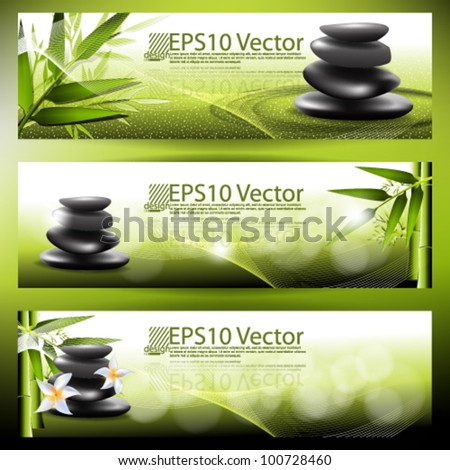 eps10 vector abstract banner background - stock vector