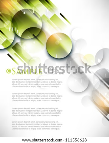 eps10 vector abstract burst round shape elements background - stock vector