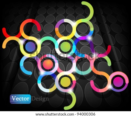 Eps10 Vector Abstract Colorful Modern Background Design - stock vector