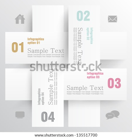 eps10 vector abstract 3D paper weave info graphic concept banner design - stock vector