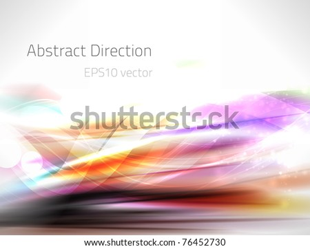 EPS10 vector abstract direction - stock vector