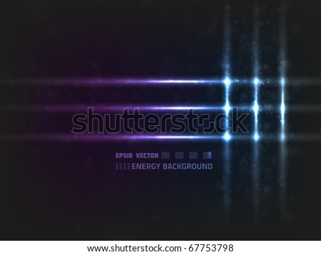 EPS10 vector abstract energy design against a dark background; composition is colored in shades of violet and blue - stock vector