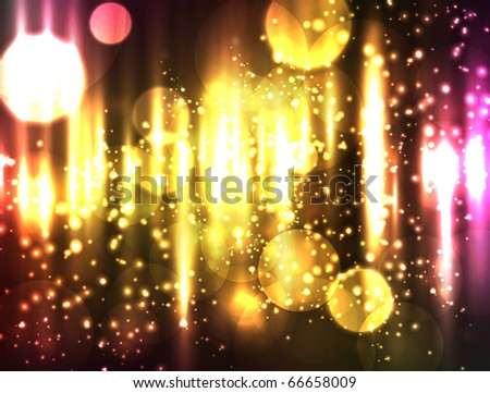 EPS10 vector abstract extremely bright bokeh design. Colored in shades of yellow, pink and red with a bit of other colors. - stock vector