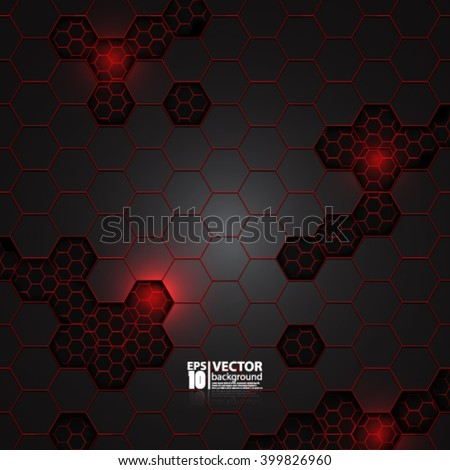 eps10 vector abstract futuristic carbon metallic geometric background - stock vector