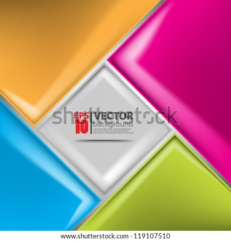 eps10 vector abstract geometric concept design background - stock vector