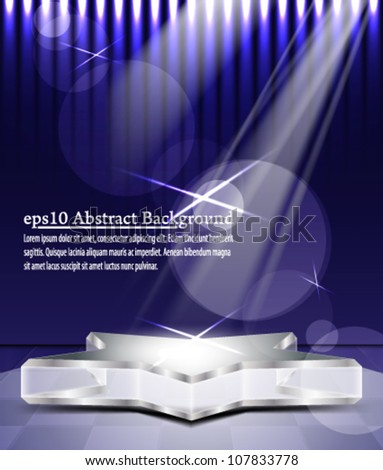eps10 vector abstract  glass stage concept background design - stock vector