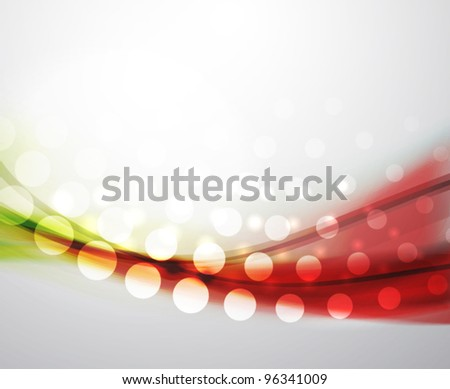 Eps10 vector abstract green and red blur wave background - stock vector